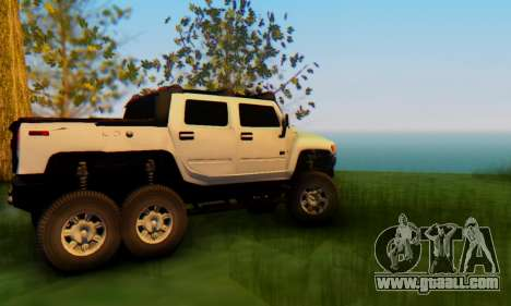 Hummer H6 Sut Pickup for GTA San Andreas inner view