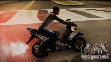 Yamaha Lagenda 115Z 2013 Fuel Injection for GTA San Andreas back left view