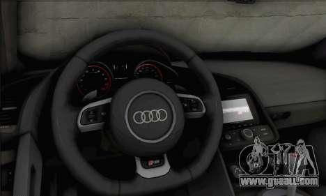 Audi R8 V10 Spyder 2014 for GTA San Andreas back view