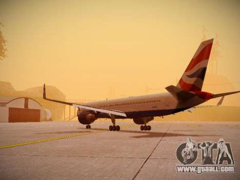 Boeing 757-236 British Airways for GTA San Andreas back left view