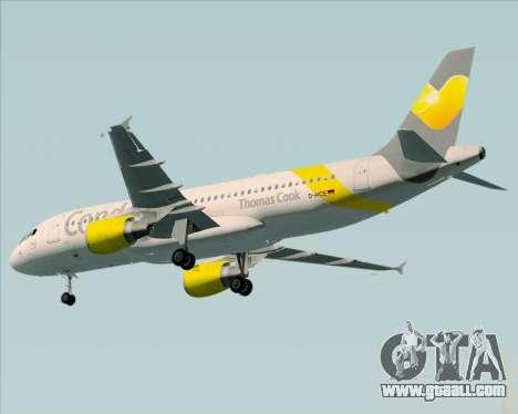 Airbus A320-212 Condor for GTA San Andreas back view