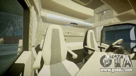 Volvo FH16 for GTA 4 inner view