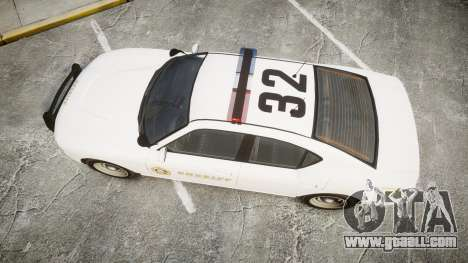 GTA V Bravado Buffalo LS Sheriff White [ELS] for GTA 4 right view