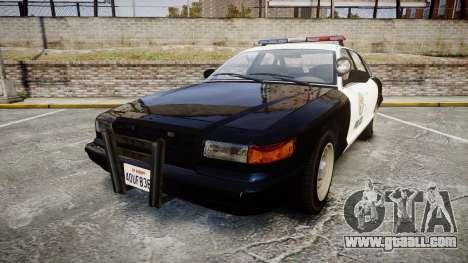 Vapid Police Cruiser GTA V LED [ELS] for GTA 4