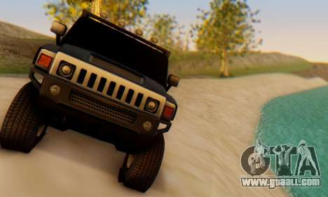Hummer H6 Sut Pickup for GTA San Andreas back view