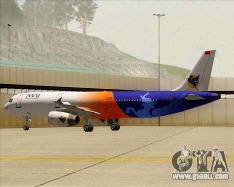 Airbus A321-200 Myanmar Airways International for GTA San Andreas wheels
