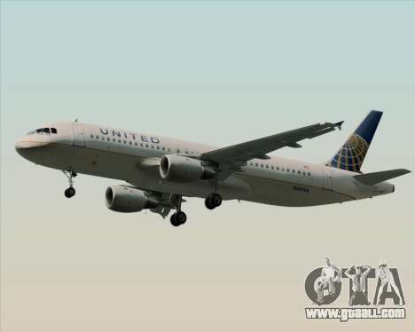 Airbus A320-232 United Airlines for GTA San Andreas right view