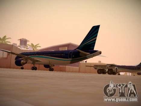 Airbus A320-214 Azerbaijan Airlines AZAL for GTA San Andreas right view
