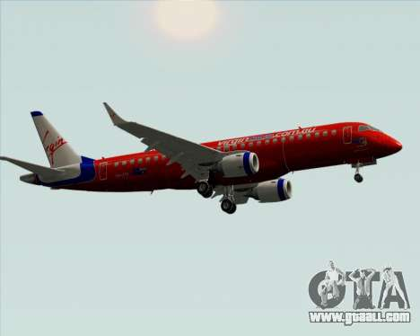 Embraer E-190 Virgin Blue for GTA San Andreas back view