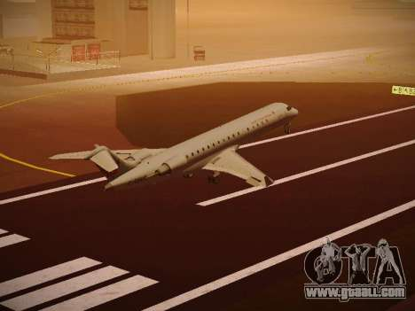 Bombardier CRJ-700 Air Canada Express for GTA San Andreas side view