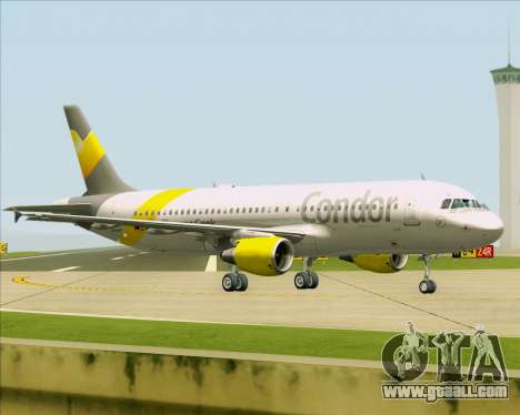 Airbus A320-212 Condor for GTA San Andreas back left view
