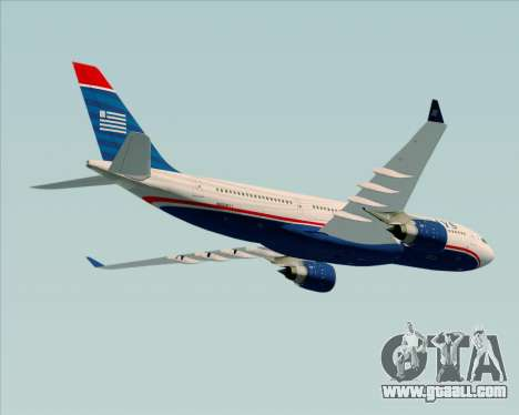 Airbus A330-200 US Airways for GTA San Andreas side view