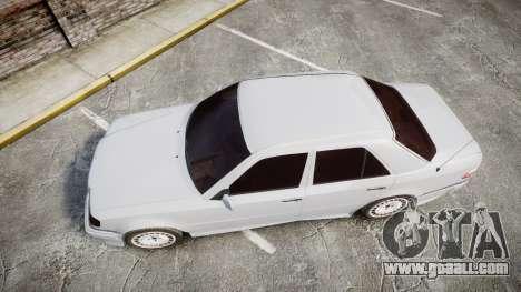 Mercedes-Benz E500 1998 Tuned Wheel White for GTA 4 right view