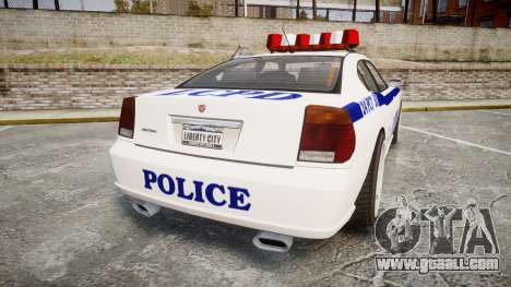 Bravado Buffalo Police for GTA 4 back left view