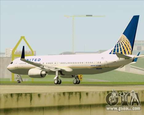Boeing 737-824 United Airlines for GTA San Andreas bottom view