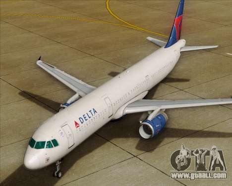 Airbus A321-200 Delta Air Lines for GTA San Andreas wheels