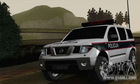 Nissan Pathfinder Policija for GTA San Andreas