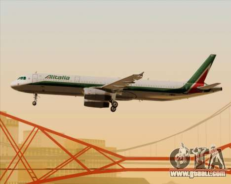 Airbus A321-200 Alitalia for GTA San Andreas wheels