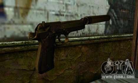 Beretta M9 Silenced for GTA San Andreas second screenshot