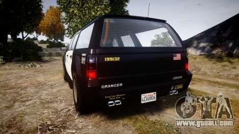 GTA V Declasse Granger LSP [ELS] Slicktop for GTA 4 back left view