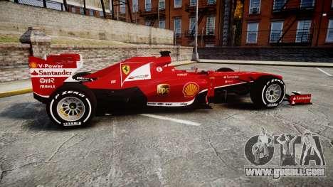 Ferrari F138 v2.0 [RIV] Alonso TMD for GTA 4 left view