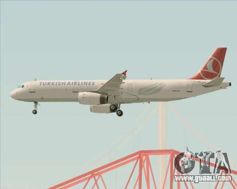Airbus A321-200 Turkish Airlines for GTA San Andreas engine