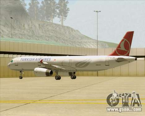 Airbus A321-200 Turkish Airlines for GTA San Andreas wheels