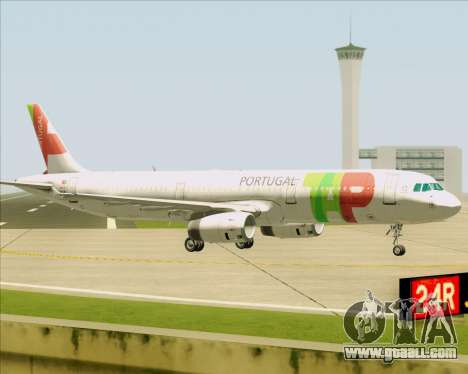 Airbus A321-200 TAP Portugal for GTA San Andreas back left view