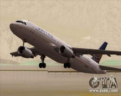 Airbus A320-232 United Airlines for GTA San Andreas