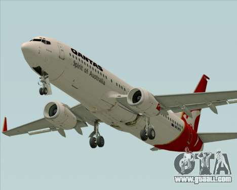 Boeing 737-838 Qantas (Old Colors) for GTA San Andreas inner view