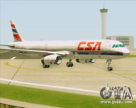 Airbus A321-200 CSA Czech Airlines for GTA San Andreas back left view