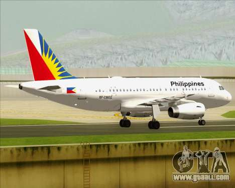 Airbus A319-112 Philippine Airlines for GTA San Andreas right view