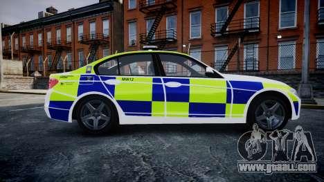 BMW 335i 2013 Central Motorway Police [ELS] for GTA 4 left view