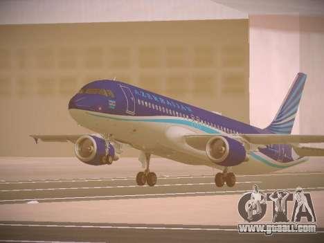 Airbus A320-214 Azerbaijan Airlines AZAL for GTA San Andreas