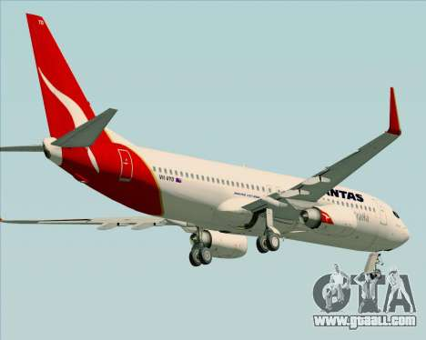 Boeing 737-838 Qantas (Old Colors) for GTA San Andreas bottom view