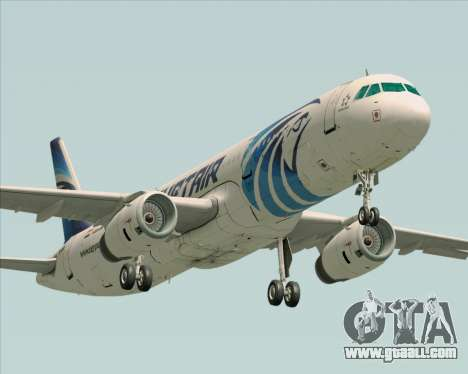 Airbus A321-200 EgyptAir for GTA San Andreas left view
