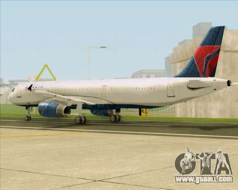 Airbus A321-200 Delta Air Lines for GTA San Andreas back left view