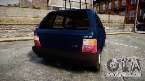 Fiat Uno for GTA 4 back left view