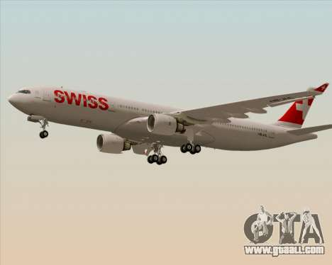 Airbus A330-300X Swiss International Air Lines for GTA San Andreas back left view