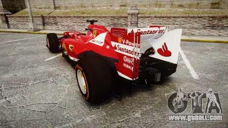 Ferrari F138 v2.0 [RIV] Alonso THD for GTA 4 back left view