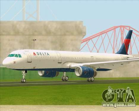 Airbus A321-200 Delta Air Lines for GTA San Andreas inner view