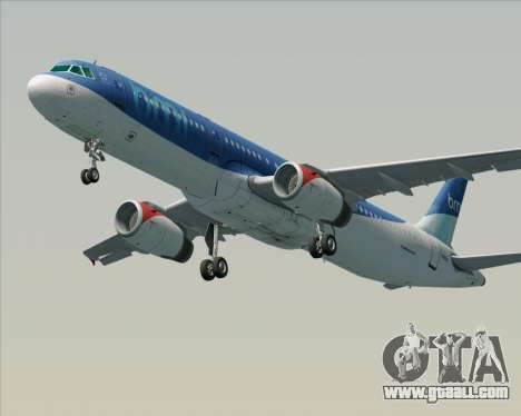 Airbus A321-200 British Midland International for GTA San Andreas side view