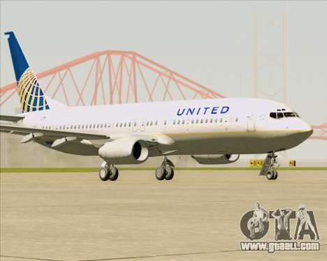 Boeing 737-824 United Airlines for GTA San Andreas left view