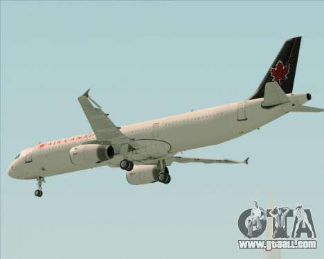 Airbus A321-200 Air Canada for GTA San Andreas upper view