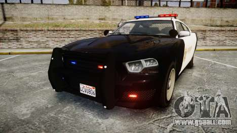 GTA V Bravado Buffalo LS Sheriff Black [ELS] for GTA 4