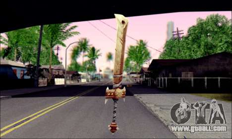 Меч (World Of Warcraft) for GTA San Andreas second screenshot