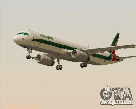 Airbus A321-200 Alitalia for GTA San Andreas left view