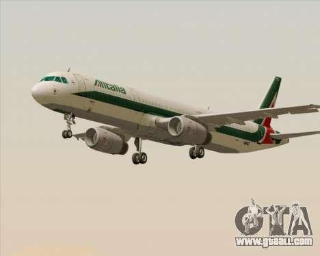 Airbus A321-200 Alitalia for GTA San Andreas left view