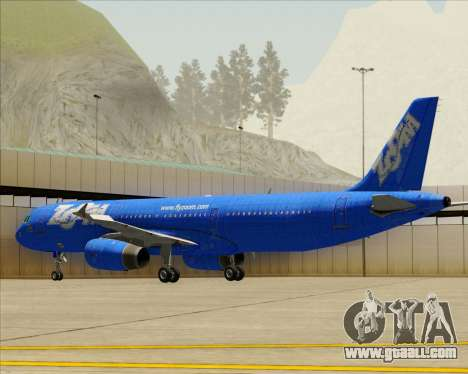 Airbus A321-200 Zoom Airlines for GTA San Andreas upper view