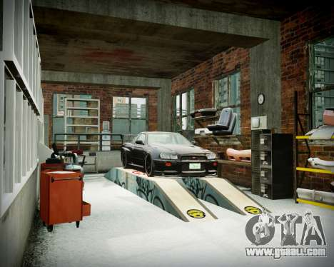 Garage with new interior Alkaline for GTA 4 tenth screenshot